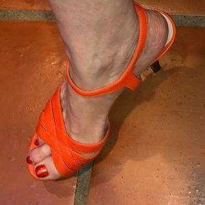 Bright Orange Vince Camuto High Heeled Sandals